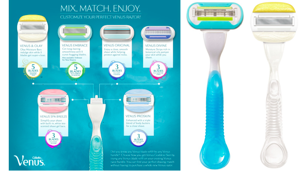 Gillette® Venus® Embrace® and Venus & Olay™ Razors