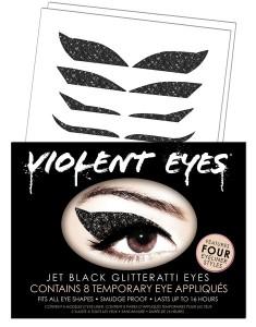 Violent Eyes Jet Black Glitterati