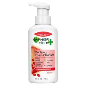 Garnier® Clean + Purifying Foam Cleanser For Combination Skin