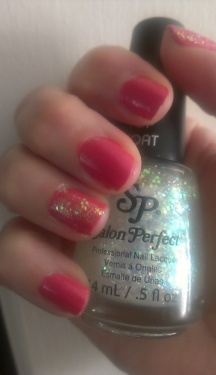 Seche polish in Keep It You and Salon Perfect top coat in One Love