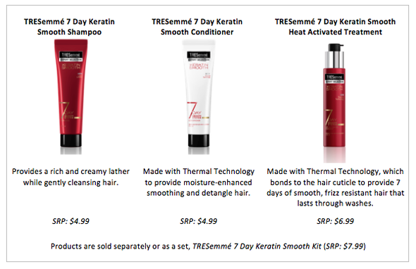 TRESemmé 7 Day Keratin Smooth Collection