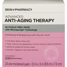 Skin + Pharmacy Advanced Anti-Aging Therapy Glycolic Peel Pads