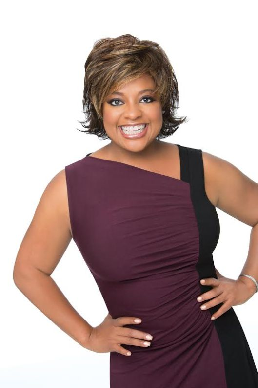 Sherri Shepherd Wearing Feather Light Shag