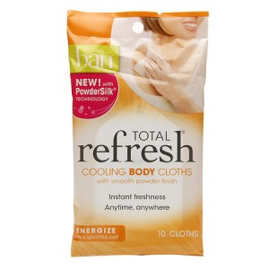 Ban Total Refresh Cooling Body Cloths in Energize