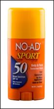 NO-AD Sport Body & Face Sunscreen Stick