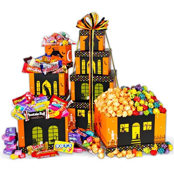Haunted House Halloween Gift Tower