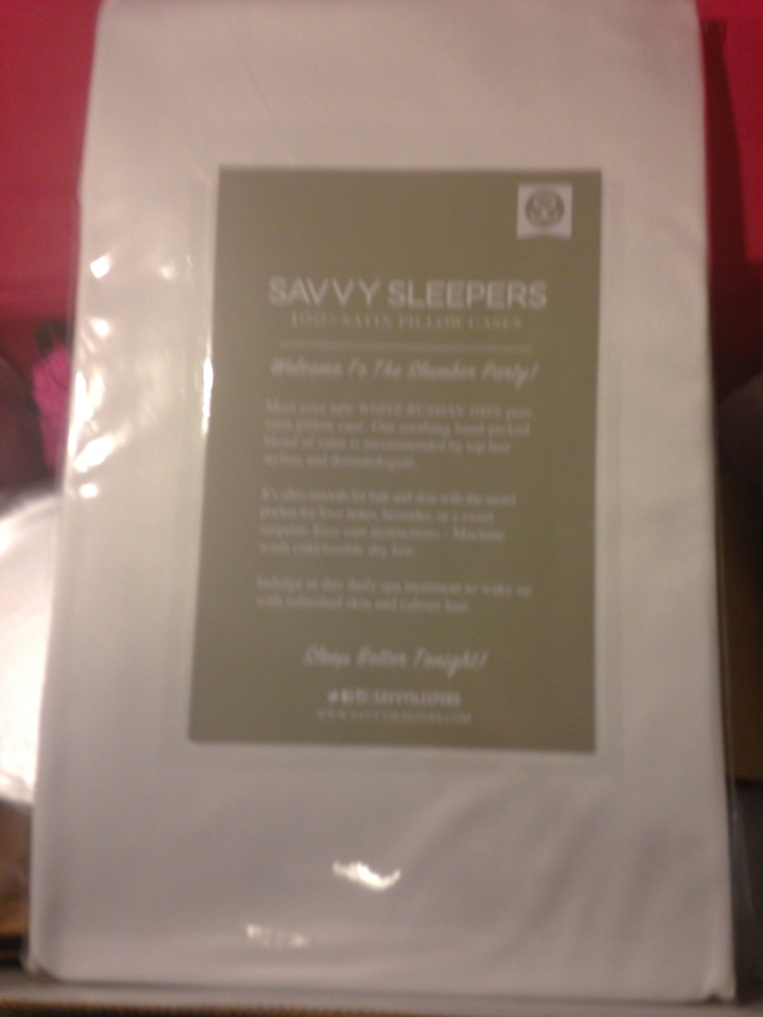 Savvy Sleepers 100% Satin Pillow Case