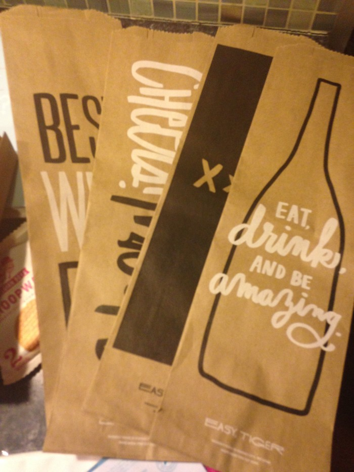 Easy, Tiger Brown Paper Liquor Bag Set