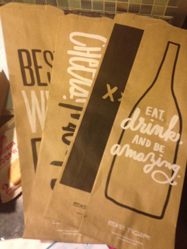 Easy, Tiger Brown Paper Liquor Bag Set