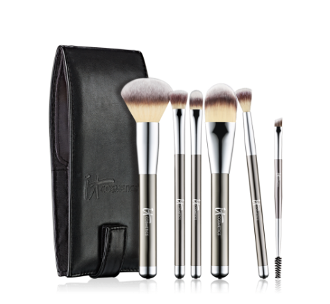 It Cosmetics Heavenly Luxe 6 Piece Brush Set with Travel Case