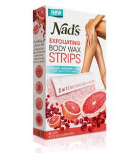 Nad's Exfoliating Body Wax Strips