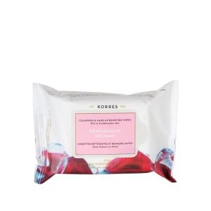 KORRES Pomegranate Cleansing & Make Up Removing Wipes