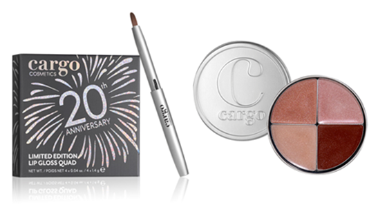 Cargo Cosmetics 20th Anniversary Lip Gloss Quad