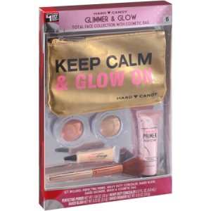 Hard Candy Glimmer & Glow Total Face Collection with Cosmetic Bag Gift
