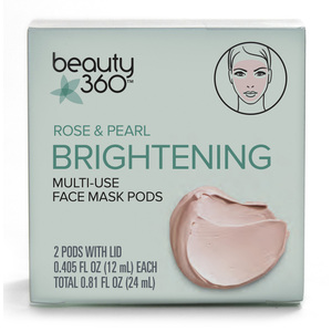 Beauty 360 Rose & Pearl Brightening Multi-Use Face Mask Pods, 2CT
