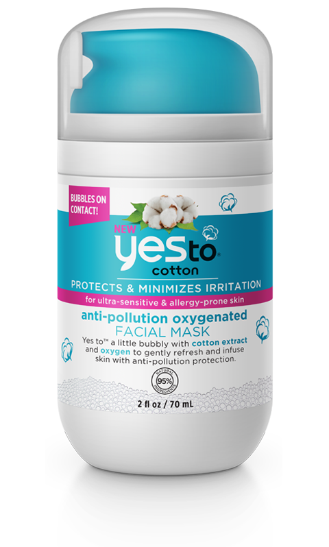 Yes to Cotton ANTI-POLLUTION OXYGENATED Facial Mask