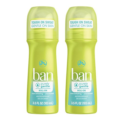 Ban Roll-On Antiperspirant Deodorant, Purely Gentle