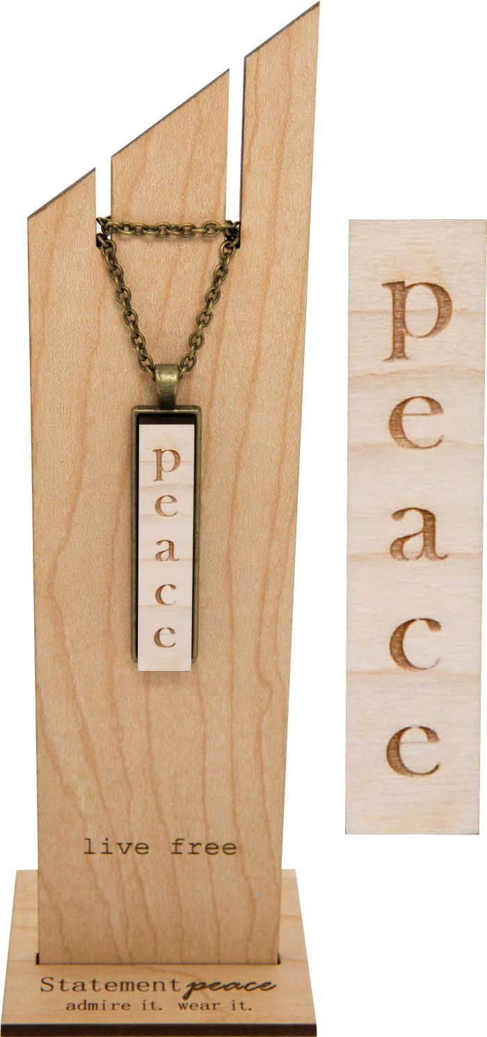 Statement Peace Necklace