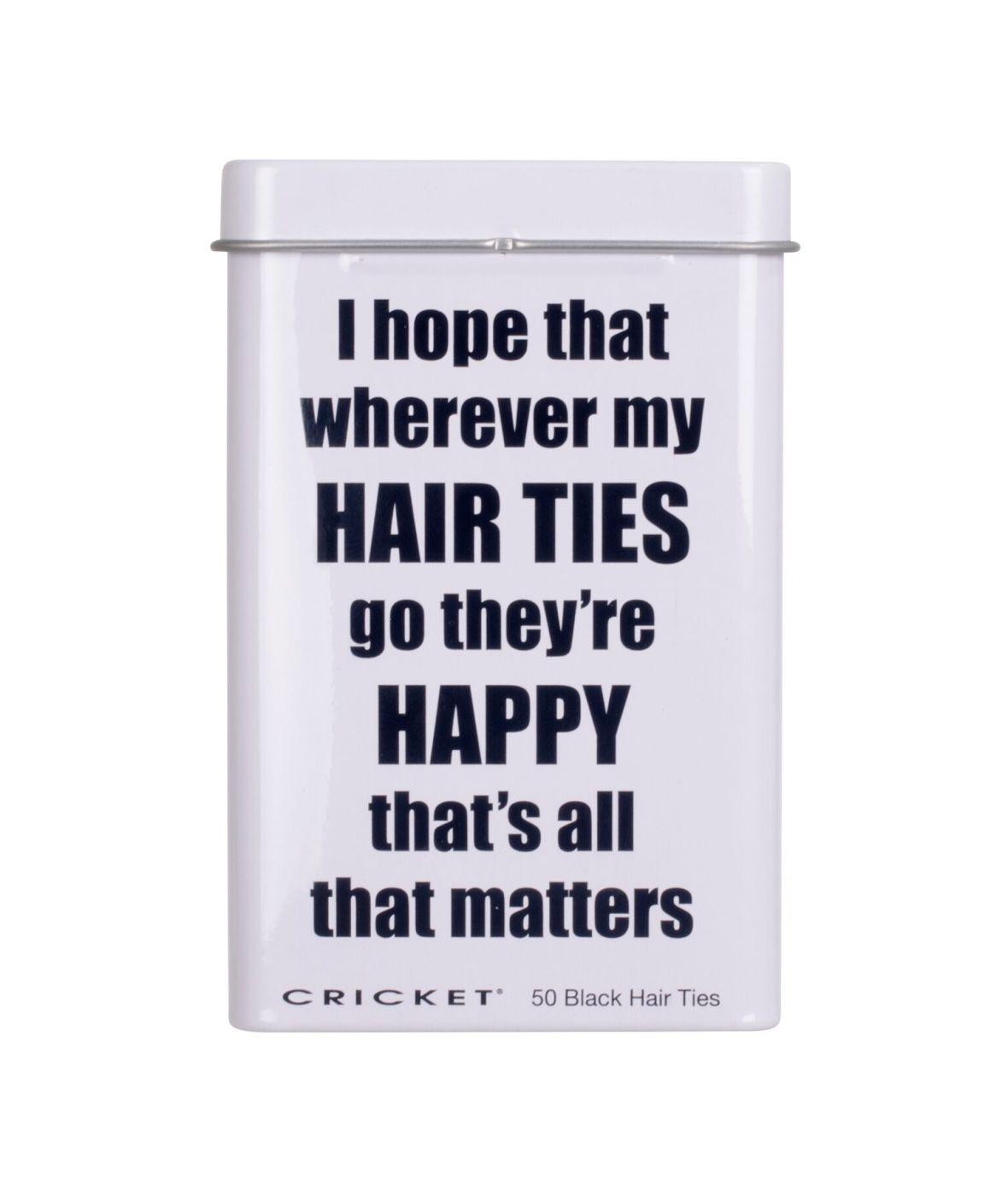 Cricket Happy Hair Ties Tin