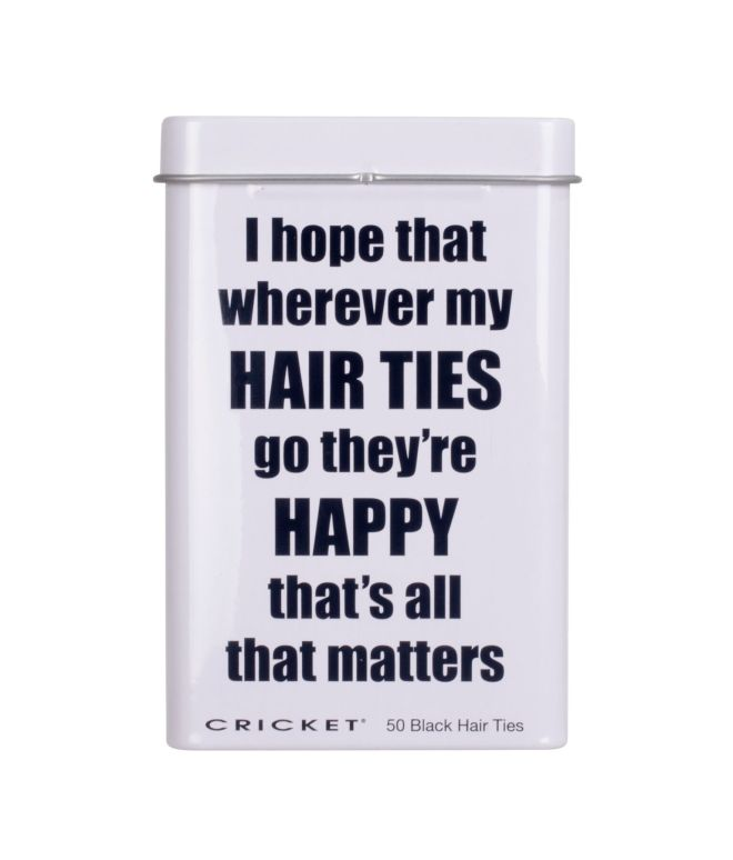 Cricket Happy Hair Ties Tin