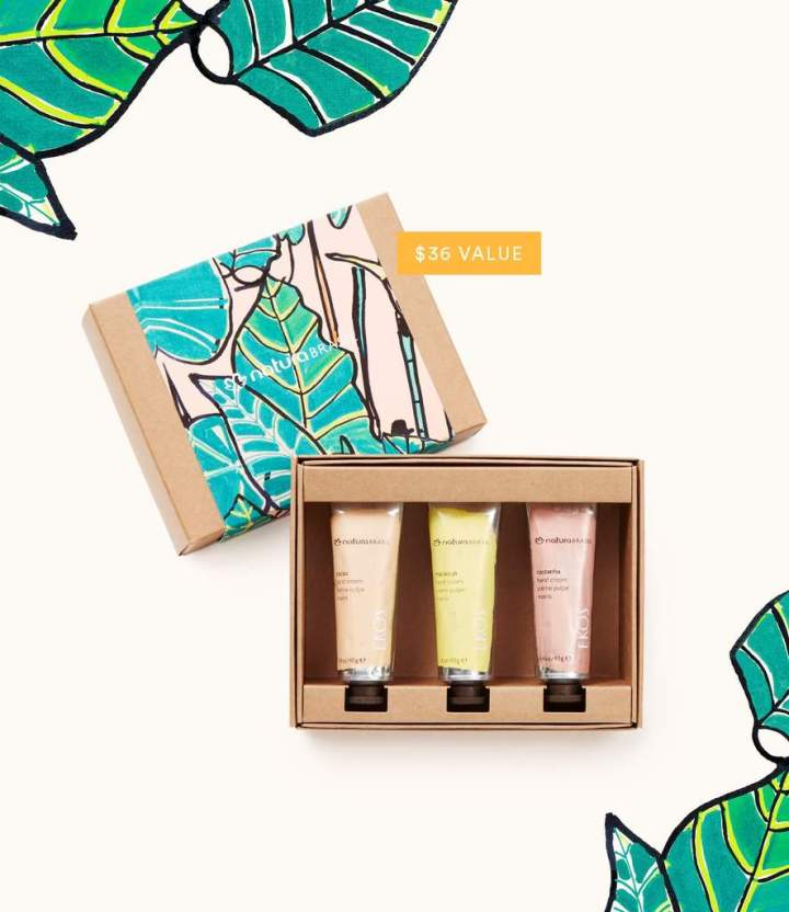 NaturaBrasil Hand Cream Trio