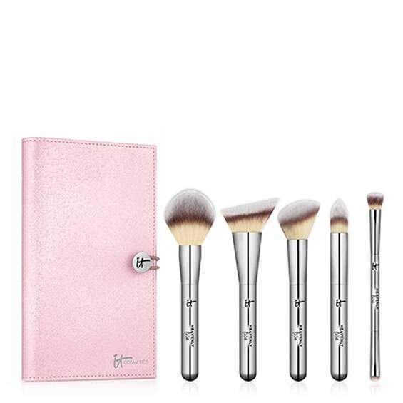 IT Cosmetics Heavenly Luxe Must-Haves! 5-Piece Full-Size Brush Set + Luxe Travel Case