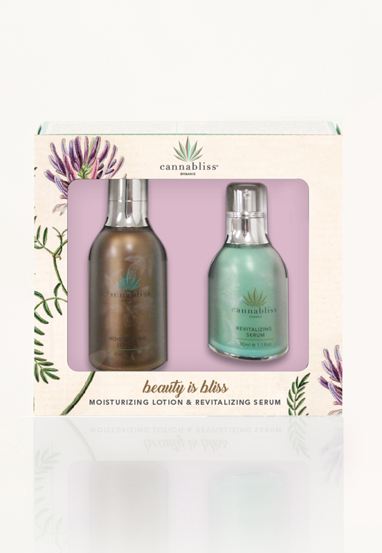 Cannabliss Moisturizing Lotion + Revitalizing Serum Gift Set